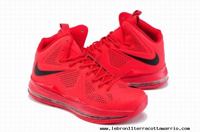 Nike LeBron X EXT Red Suede For Sale