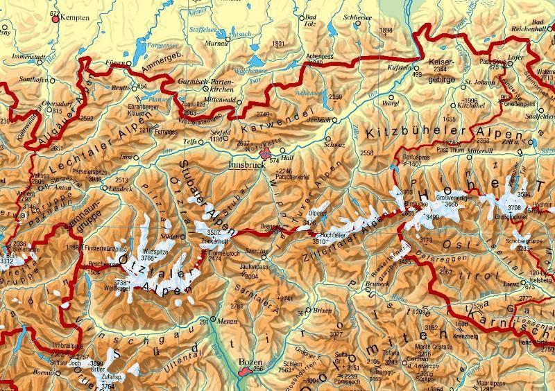 Tirol Landkarte Osterreich Tirol Landkarte Tirol