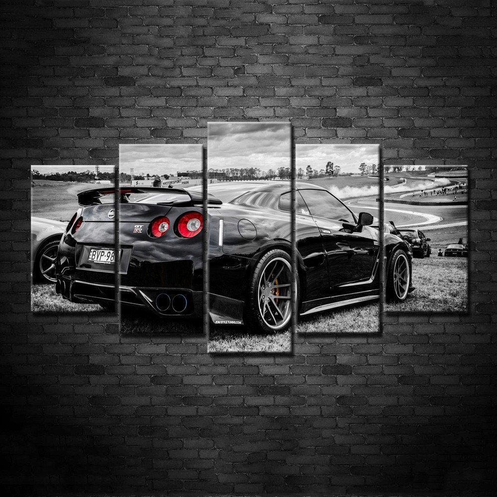 kunst nissan gtr car art wall poster