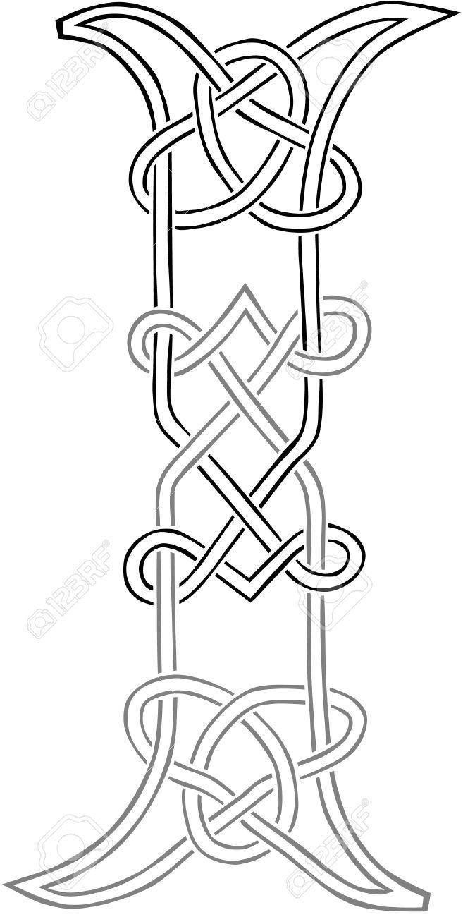 Un Nodo Celtico-work Capital Letter I Sagoma Stilizzata Clipart ...