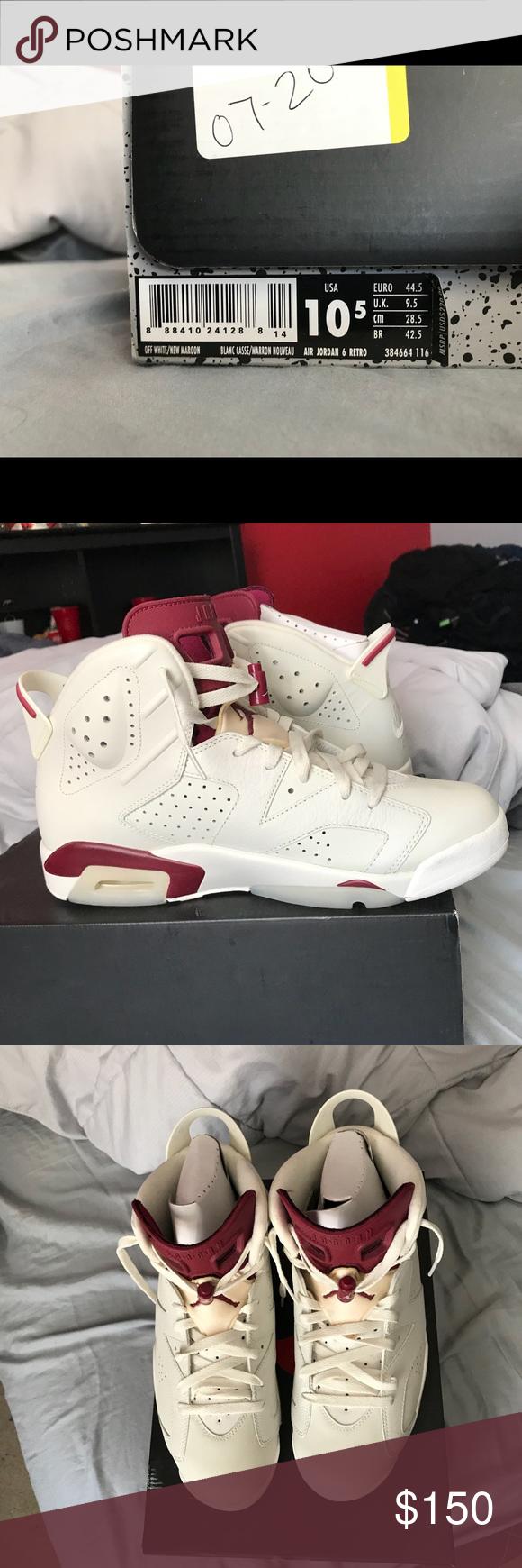"Air Jordan 6 Retro ""Maroon"" Men's Sz 10.5 Men's Size 10.5"
