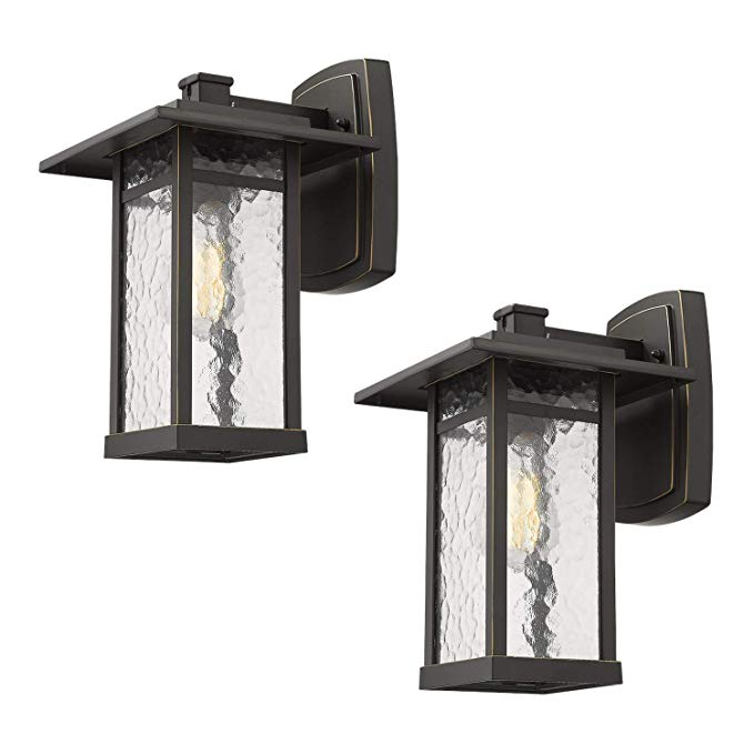 Amazon Com Outdoor Wall Sconce Beionxii 2 Pack Exterior Wall