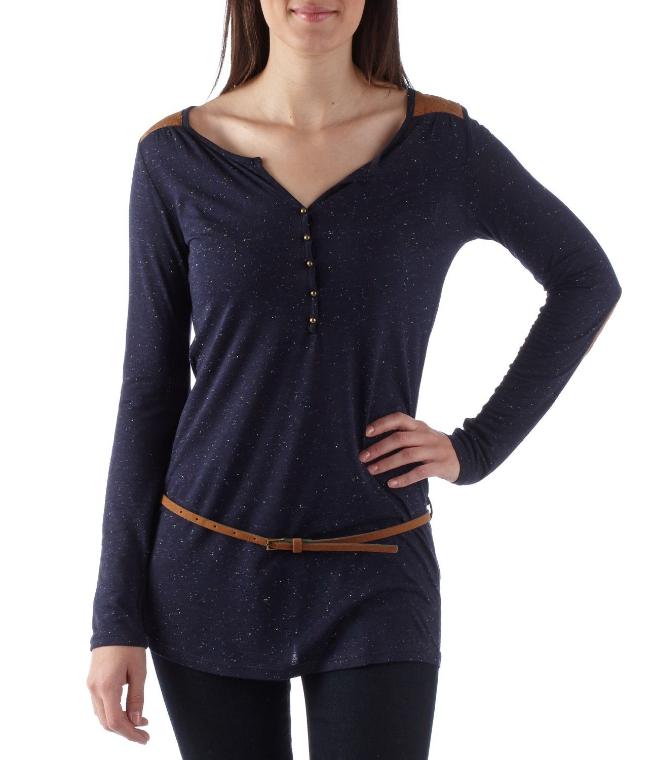Women's tunic with shoulder inserts