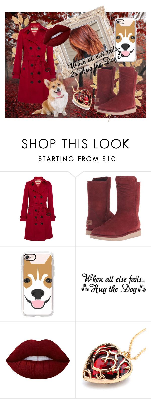 """First Meeting Heracles"" by melaniedembinski ❤ liked on Polyvore featuring Burberry, UGG, Casetify, Corgi and Lime Crime"