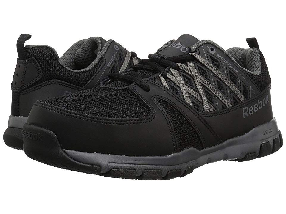Reebok Men's Leather with MicroWeb Athletic Oxfords Steel Toe