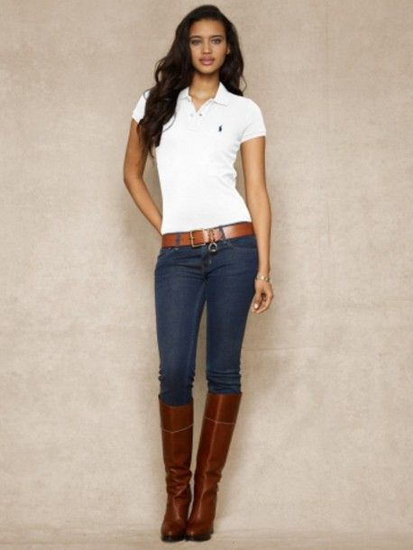 a624655648 Nice perfection White Polo Shirt Outfit Women