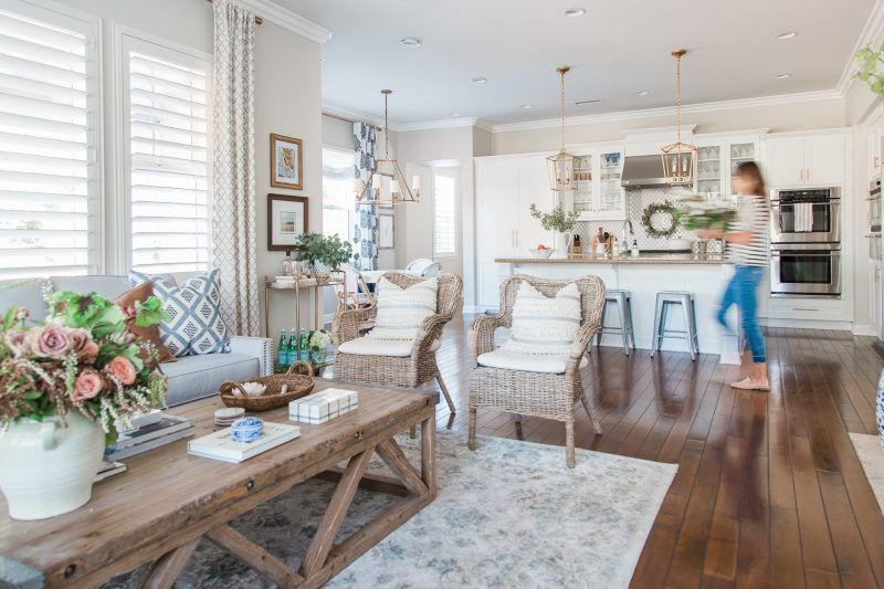 Photo of Sharing our family room reveal today. It's a room that we spend the majority of …