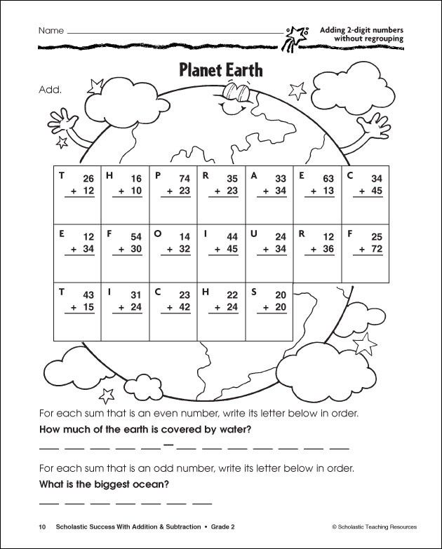 digit addition and subtraction without regrouping worksheets – Second Grade Addition and Subtraction Worksheets