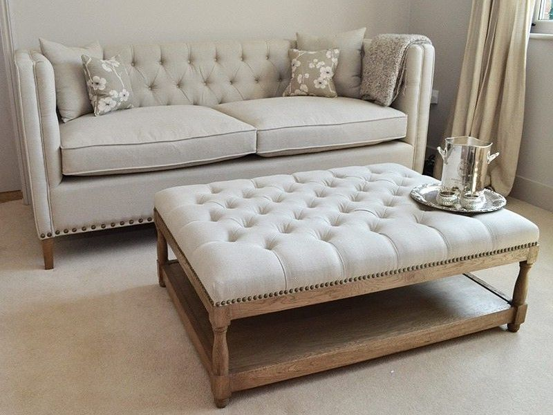 Padded Ottoman  Erika's Living Room  Pinterest  Ottomans Delectable Living Room Ottoman Design Decoration