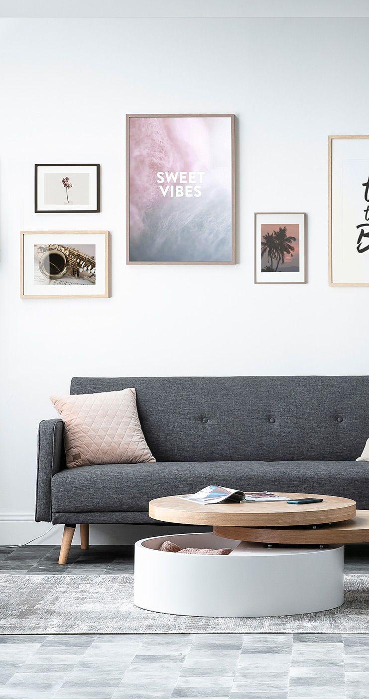 Canape Convertible 3 Places Scandinave Gris Fonce Ulla Miliboo Meuble Design Mobilier De Salon Canape Convertible 3 Places