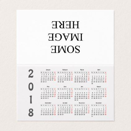 Create your own 2018 calendar place card Place card and Place - how to create your own calendar