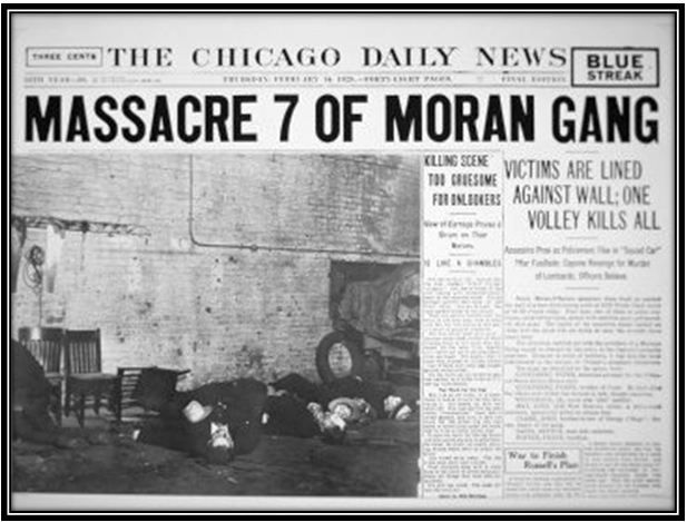 1929 Newspaper Report Of The St Valentines Day Massacre In Chicago