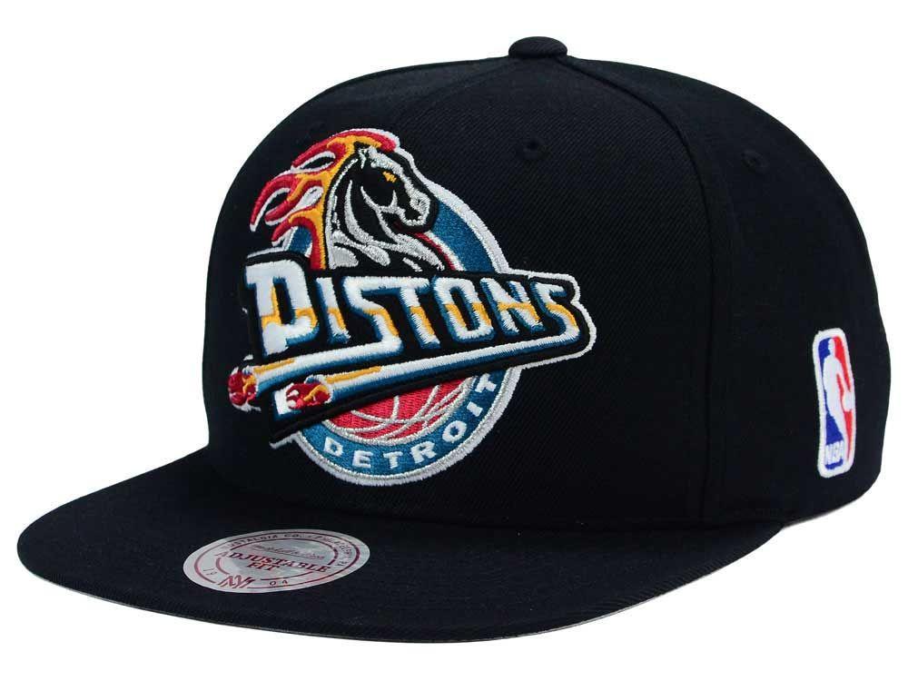 buy popular 6d7cc 74226 Detroit Pistons Mitchell and Ness NBA XL Logo Snapback Cap