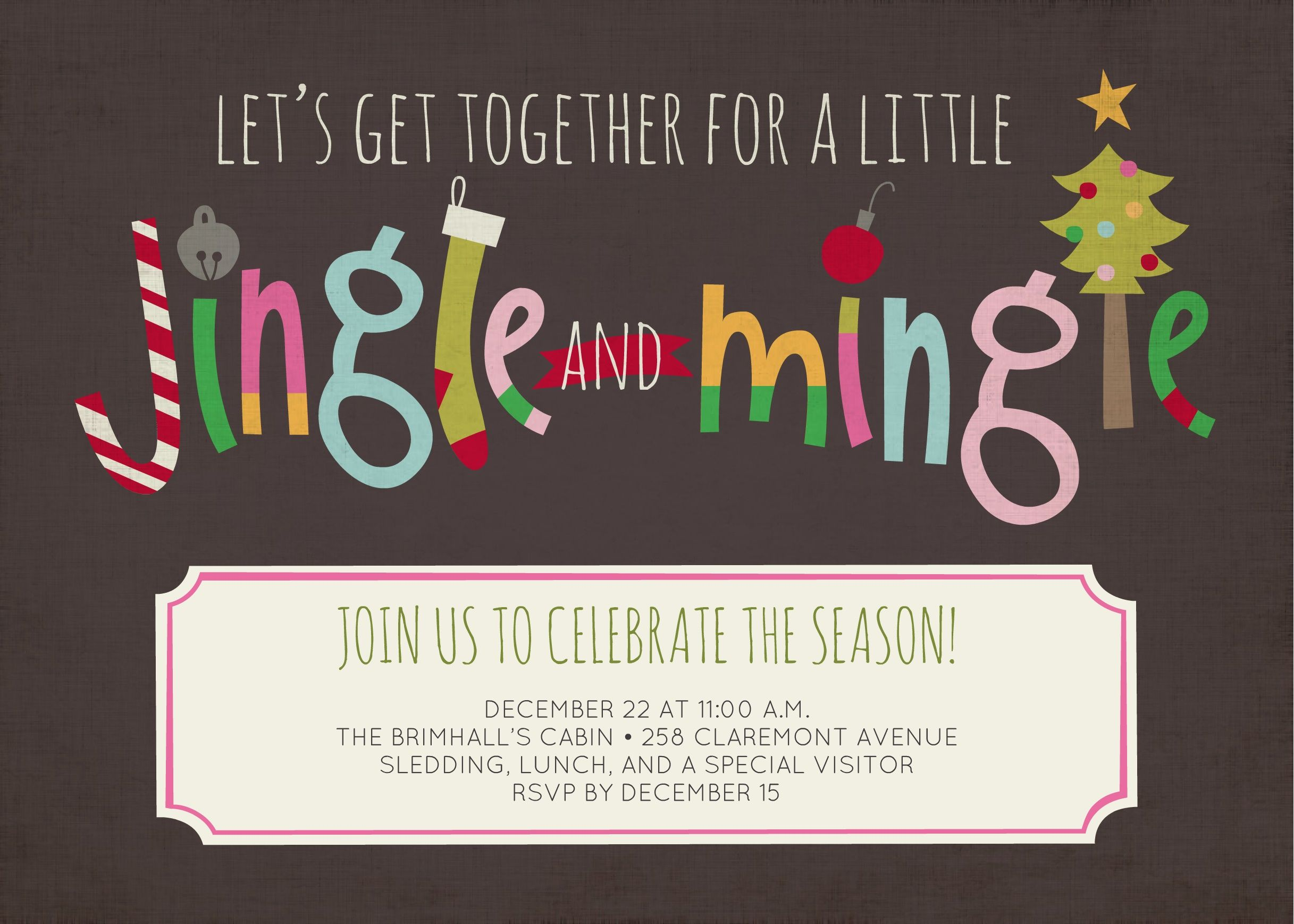 celebrate the season by throwing a fun jingle and mingle