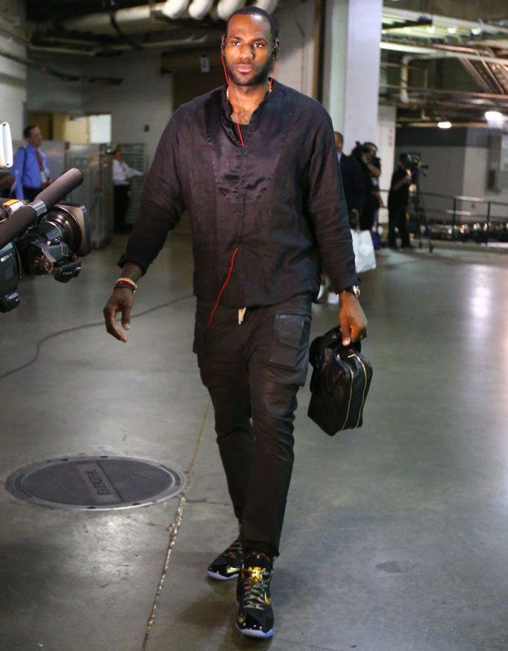 differently b824e 4cd8e LeBron James wearing Nike LeBron XI 11 Watch the Throne