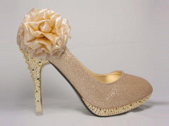 TDA Womens Fashion Crown Tassel Wedding Party Stiletto Pumps  GE4TXSMHF