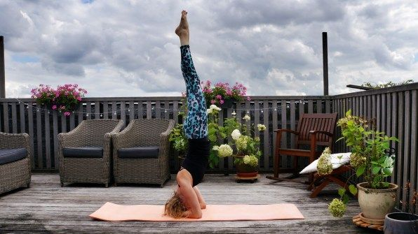 Creating some happy space with the #yoga #headstand!