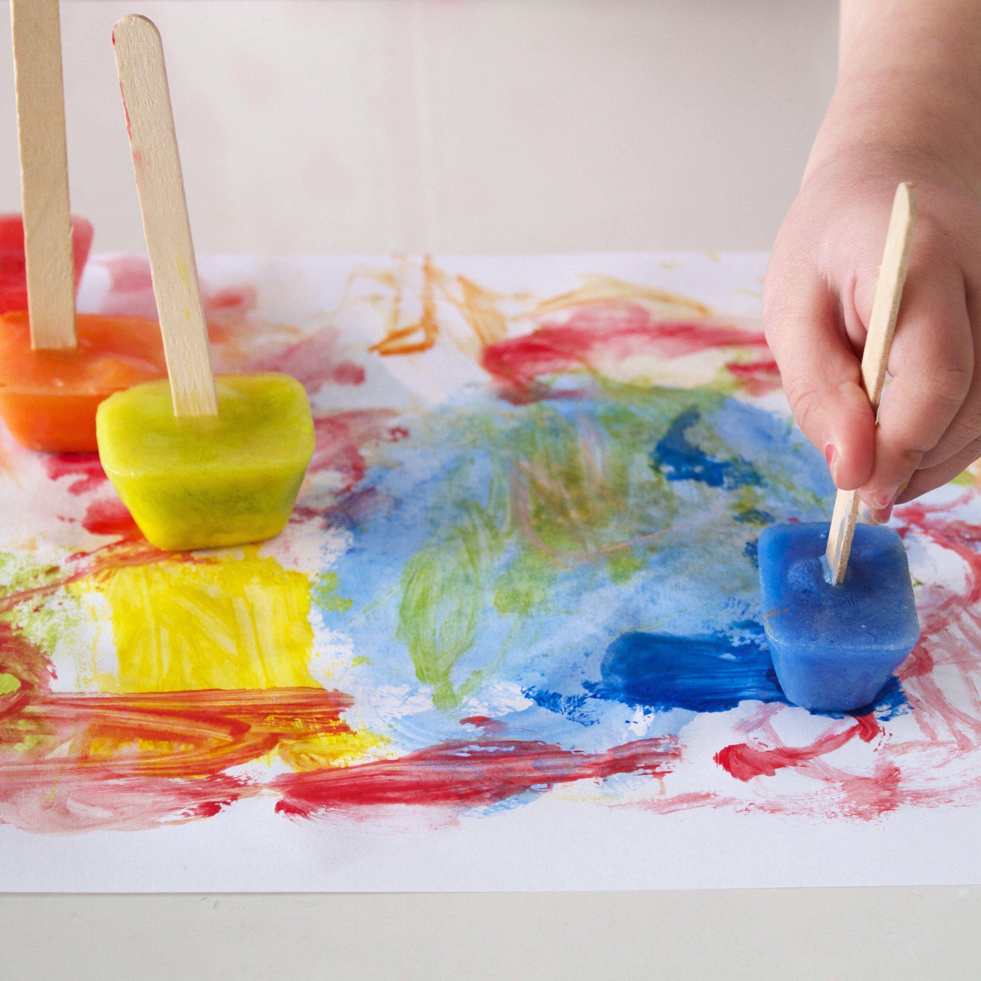 Ice cube painting kids crafts activities pinterest - Angebote kindergarten sommer ...