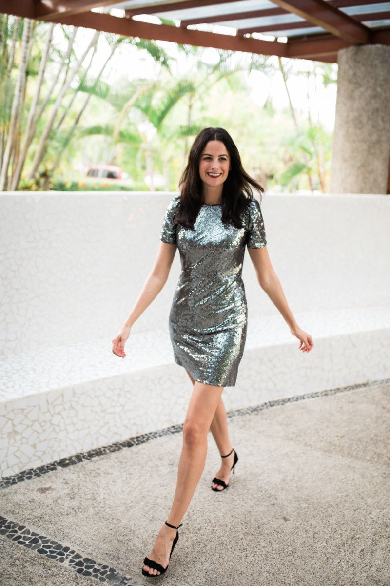 Have You Seen This Nye Dress The Miller Affect Is Wearing A Silver Sequin