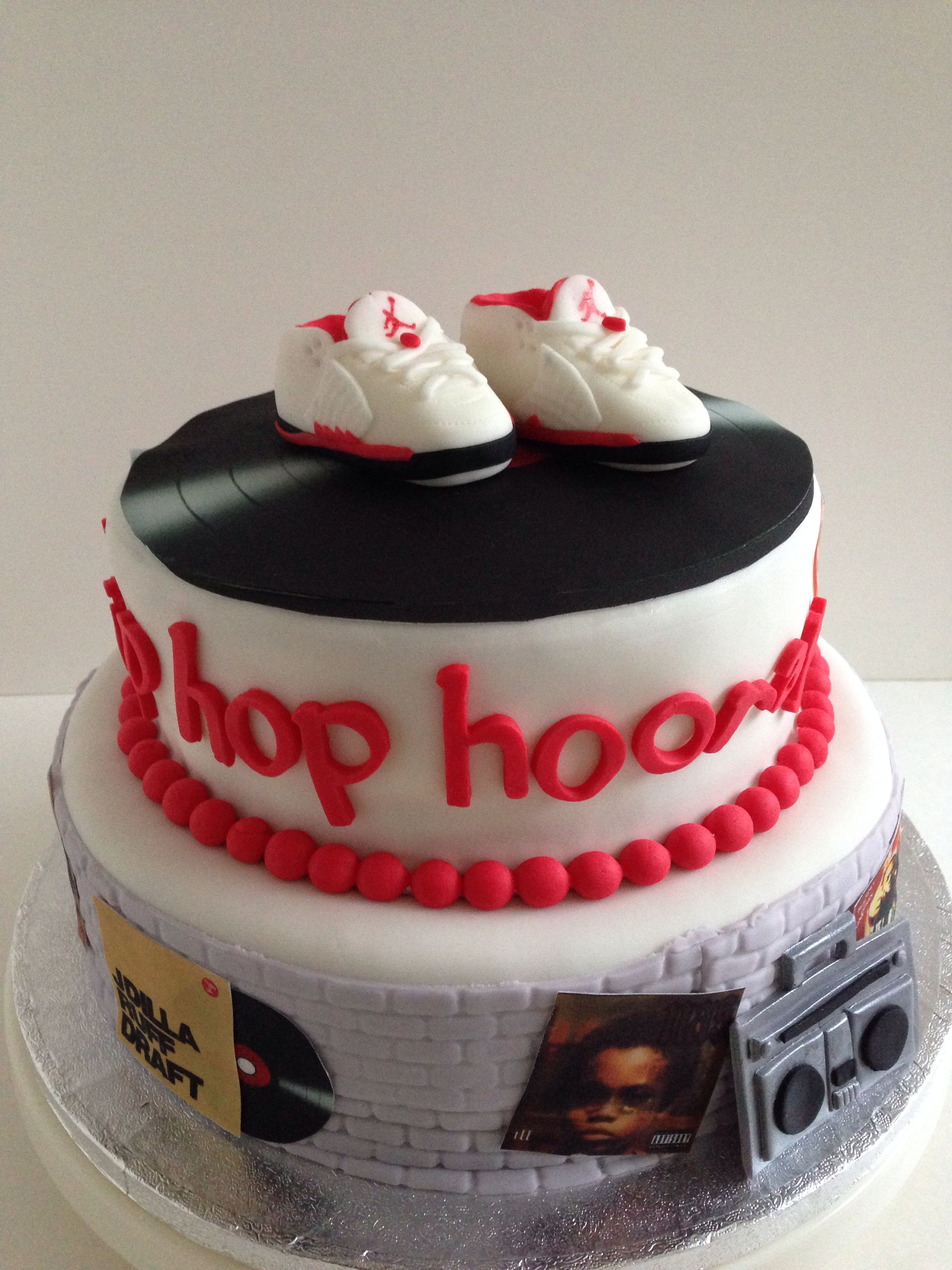 hip hop hooray! hip hop baby shower themed cake with