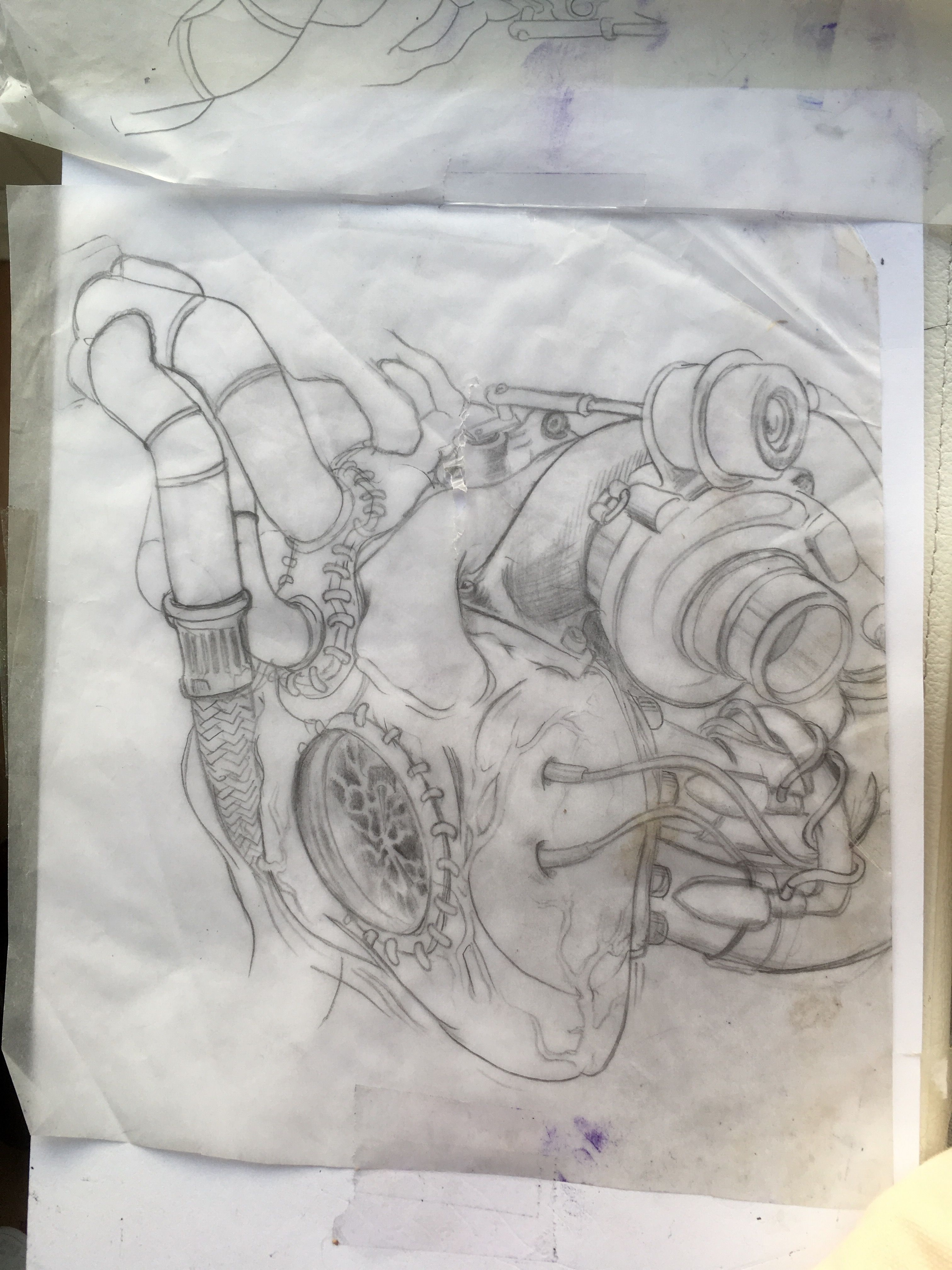 A biomec turbo heart design I been working on for a while