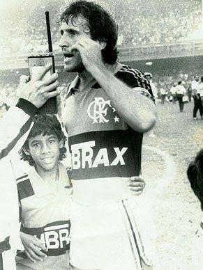 Zico E Leo Moura Flamengo Com Imagens Zico Flamengo Futebol