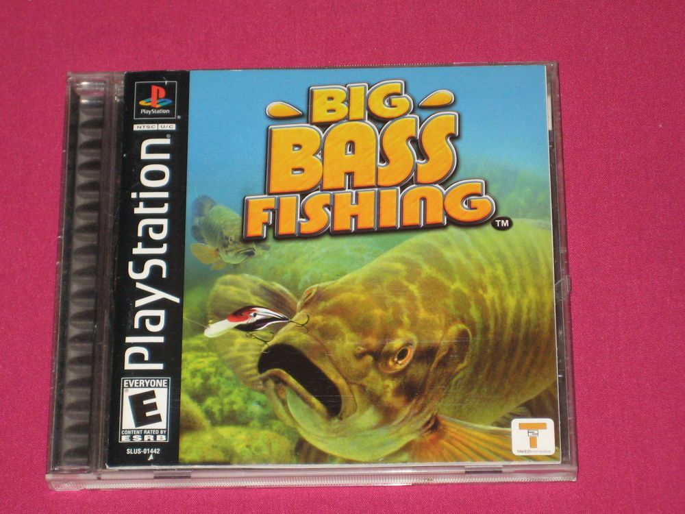 Big Bass Fishing Ps1 Video Game Sony Playstation 1 2002 Complete Ebay Games To Buy Fishing Gifts Playstation