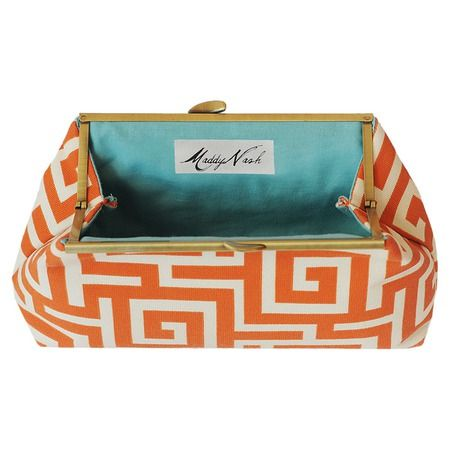 I pinned this Maddy Nash Orange Oskar Clutch with Charlotte Interior from the Bright & Bold Accessories event at Joss and Main!