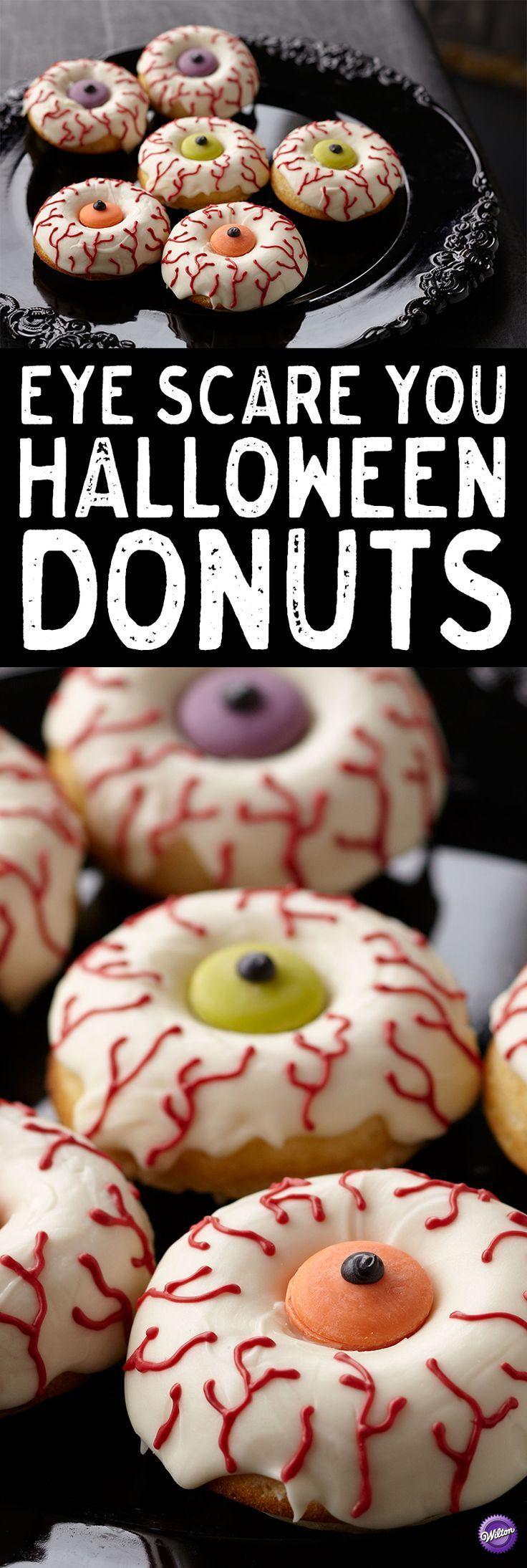 Eye Scare you Halloween Donuts – Wecken Sie Ihre Halloween-Feier mit - #Donuts #Eye #Halloween #HalloweenFeier #Ihre #mit #Scare #Sie #Wecken #celebrationcakes