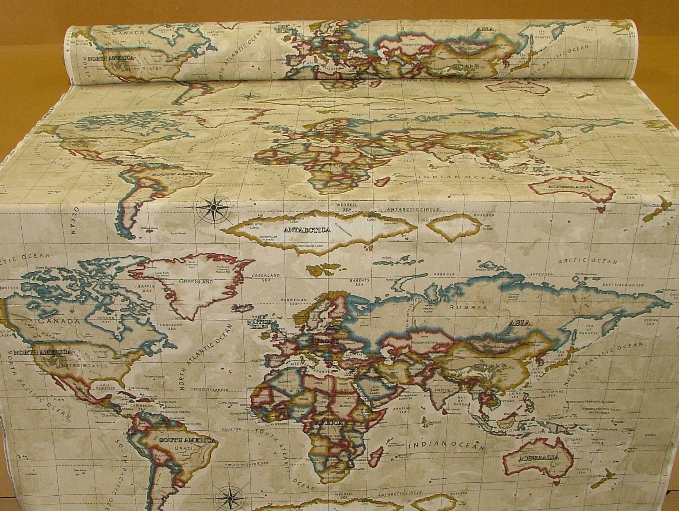 Atlas world map antique prestigious designer fabric pretty atlas world map antique prestigious designer fabric pretty gumiabroncs Image collections