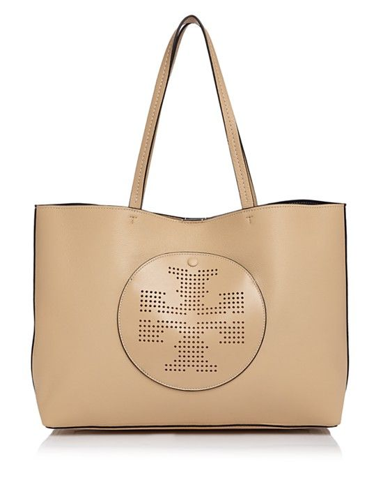 433dc40c51bf Tory Burch Perforated Logo Leather Tote
