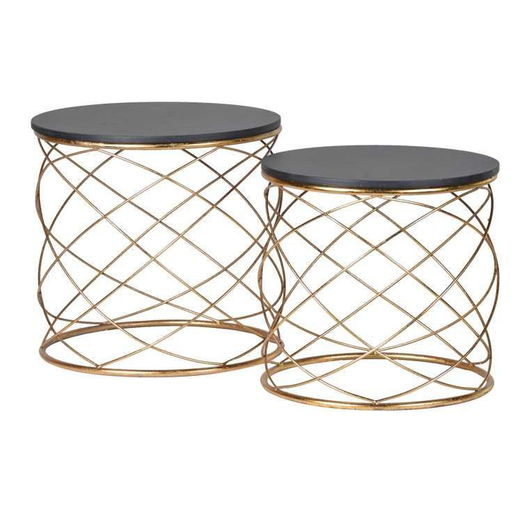 Torsade Metal Side Table Nest French Bedroom Company Metal