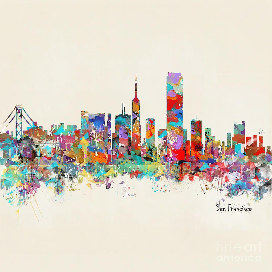 san francisco skyline watercolor - Google Search | Skyline | Pinterest