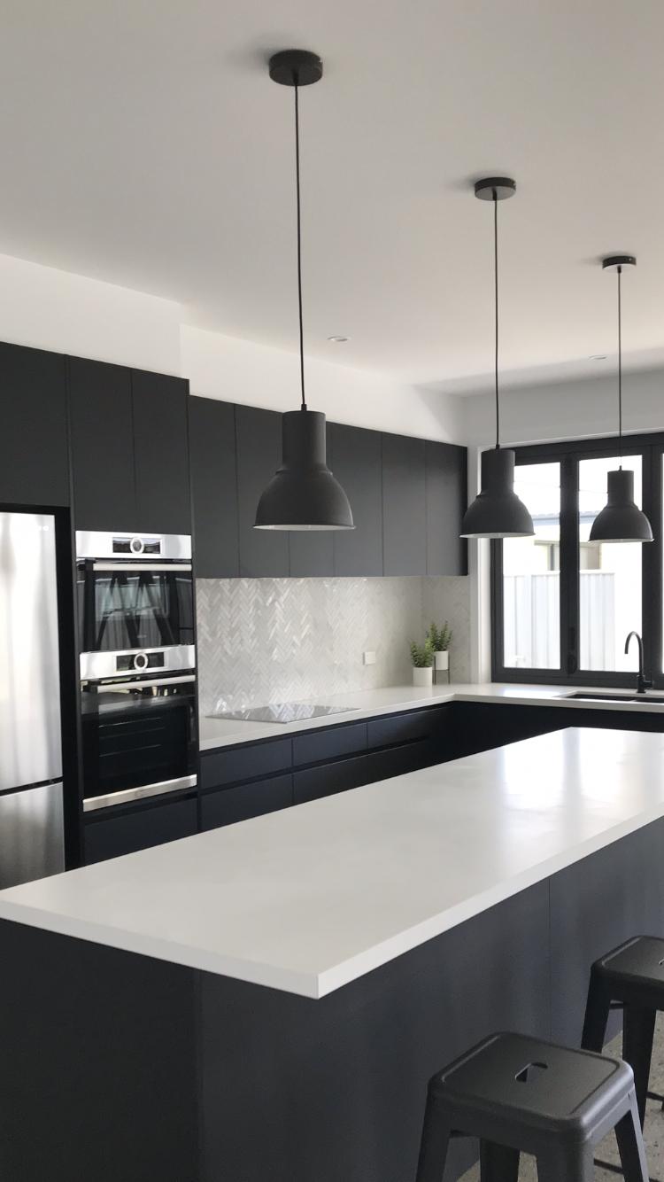 Best Black And White Kitchen Bosch Appliances Absolute Matte 400 x 300