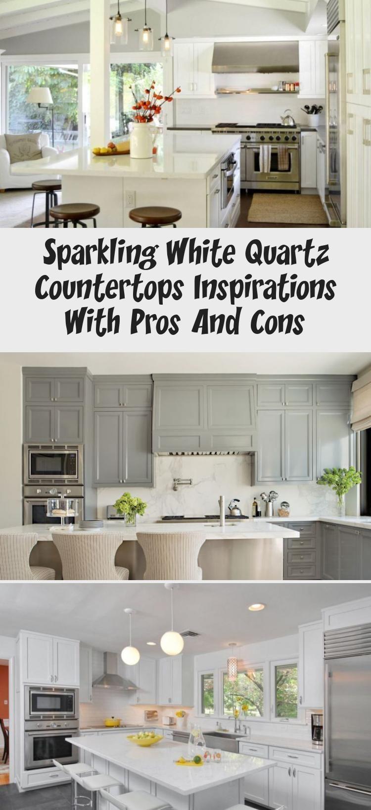 9 weiße Quarz Arbeitsplatten, die wie Marmor aussehen kitchen ...