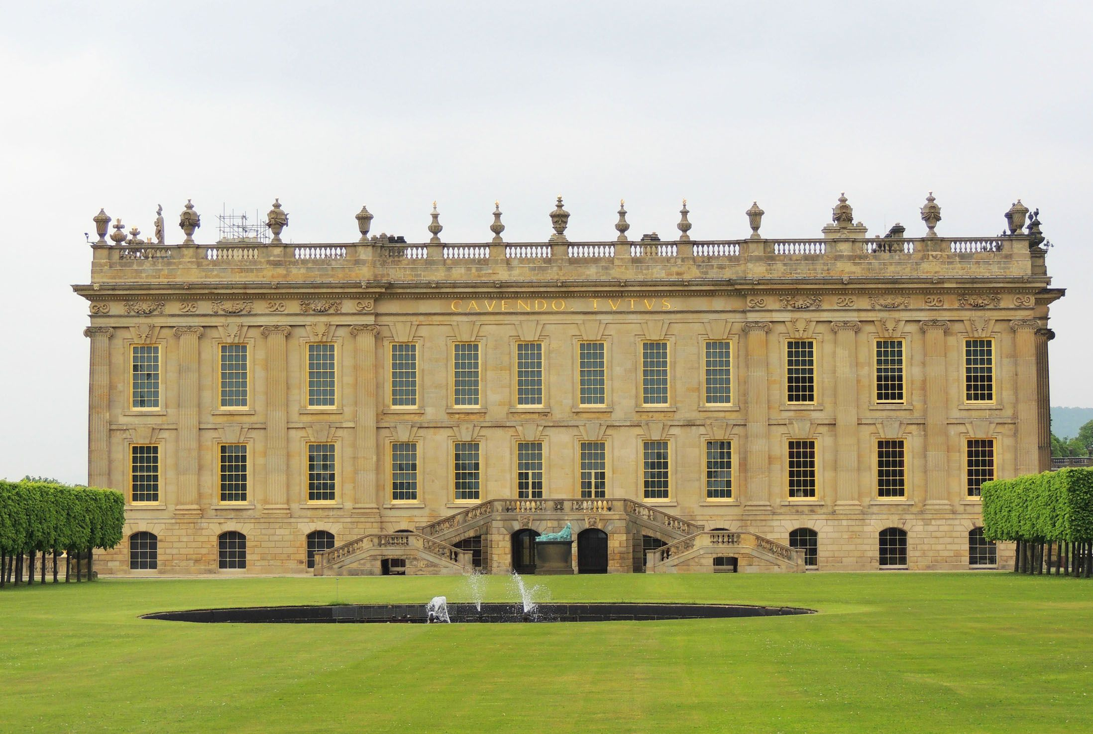 Stunning front elevation to Chatsworth House - Image Copyright Stately Homes & Palaces