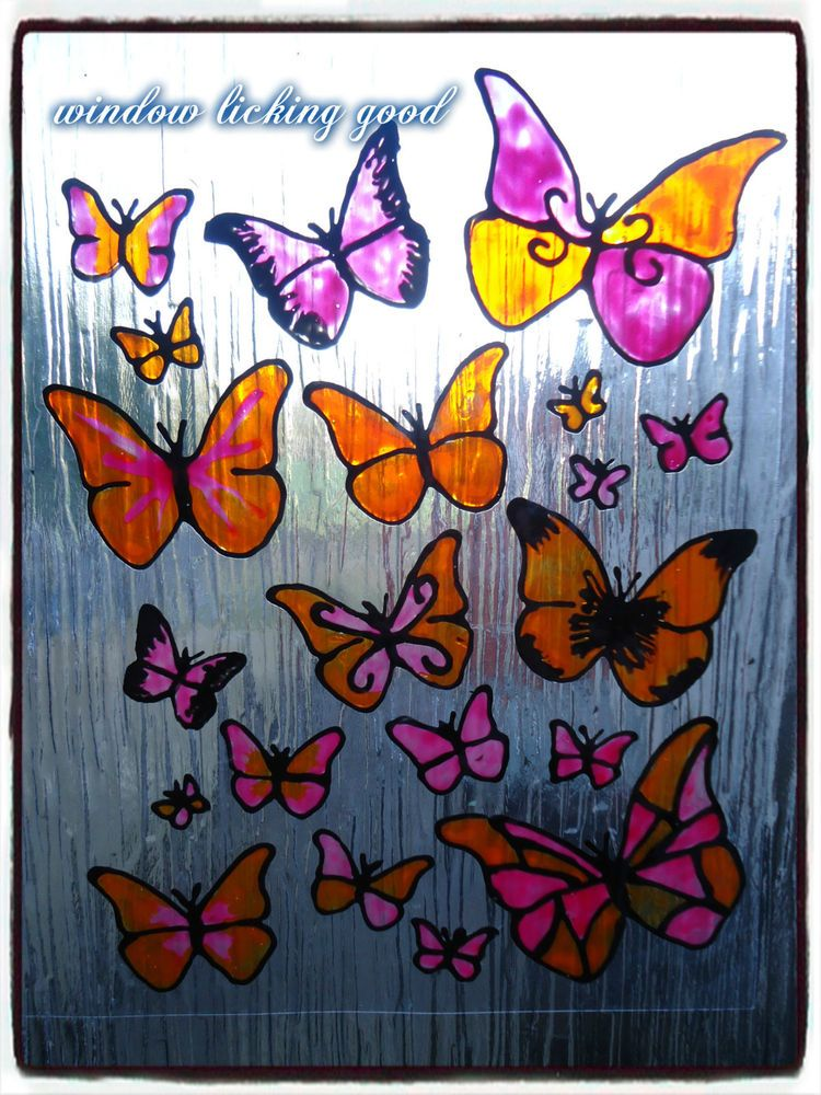 Window Cling Butterfly Pack Patio Door Stickers Playroom