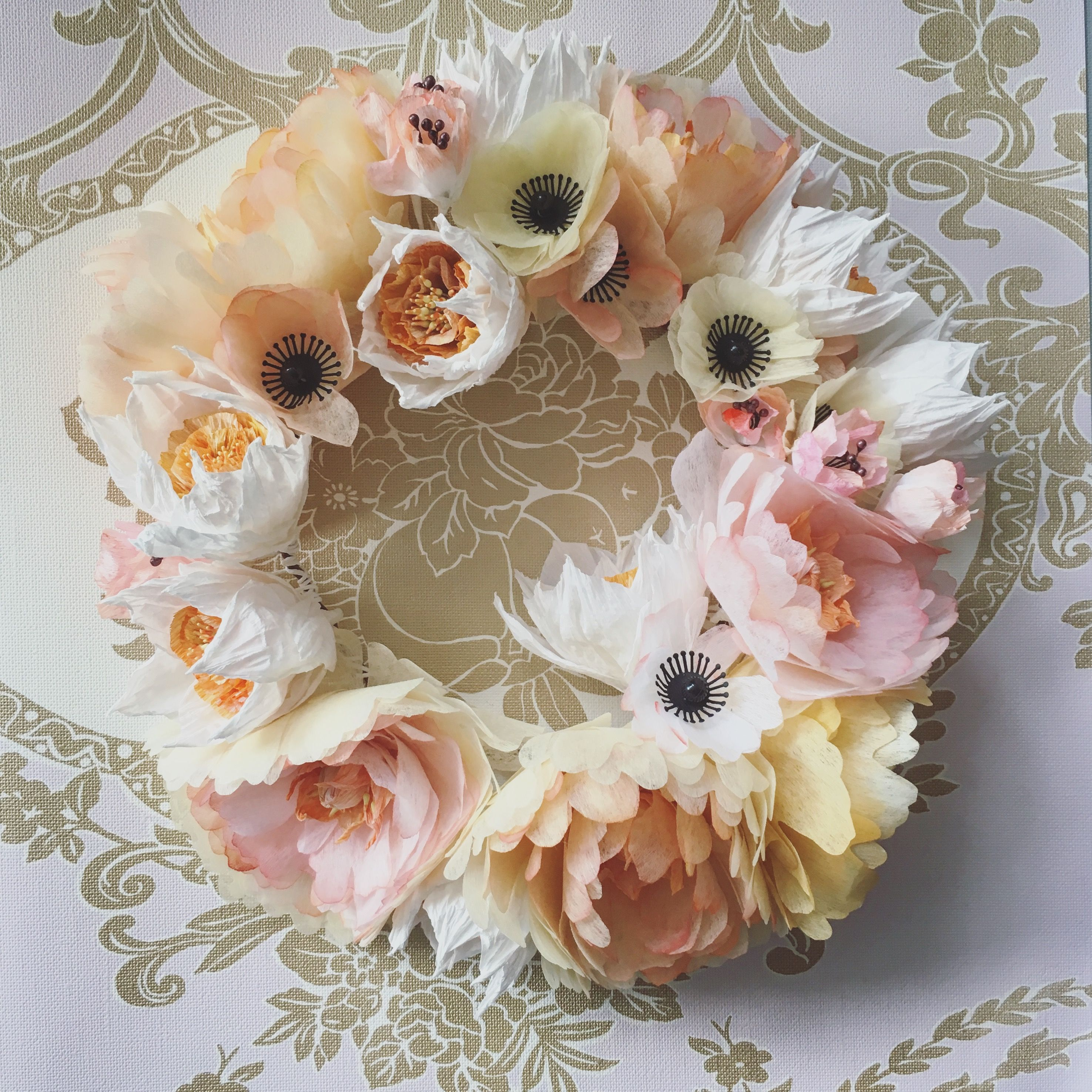 Paper Flower Wreath Easter Wall Decoration More Httpswww