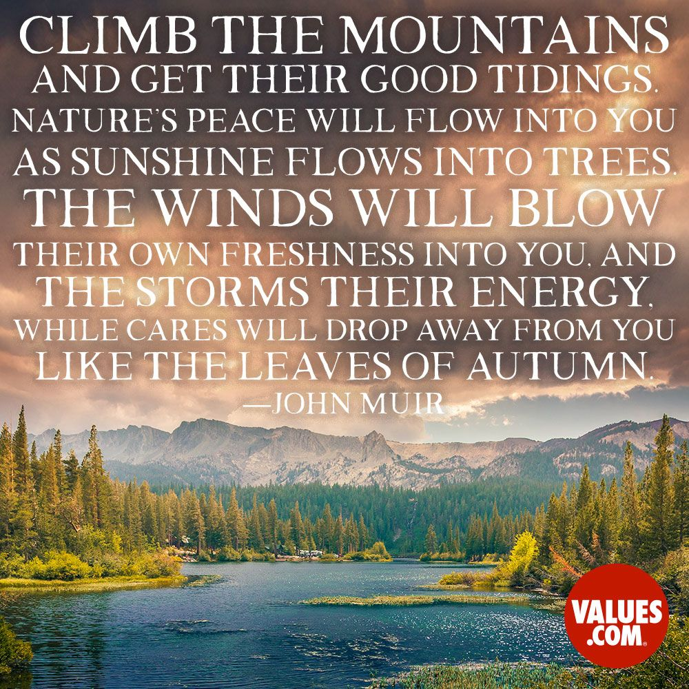 An inspirational quote by John Muir from
