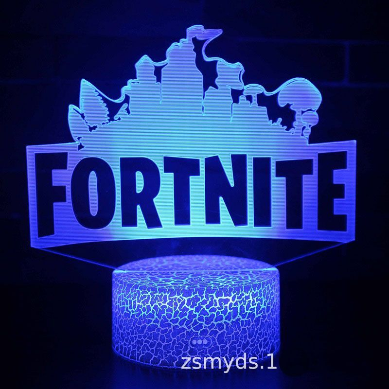 Fortnite 3d Led Night Light Colour Changing Usb Desk Lamp In 2020 3d Led Night Light Led Night Light Color Changing Lights