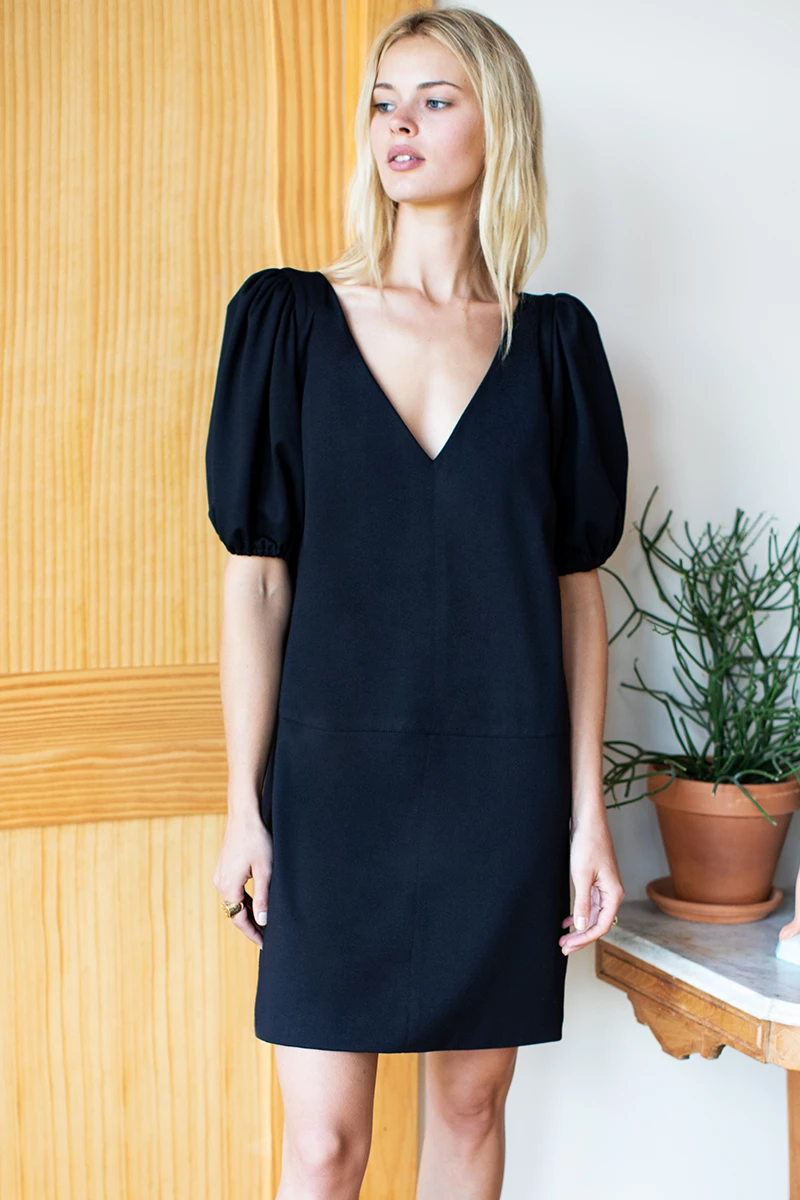 Elle Dress - Black Ponte #emersonfry