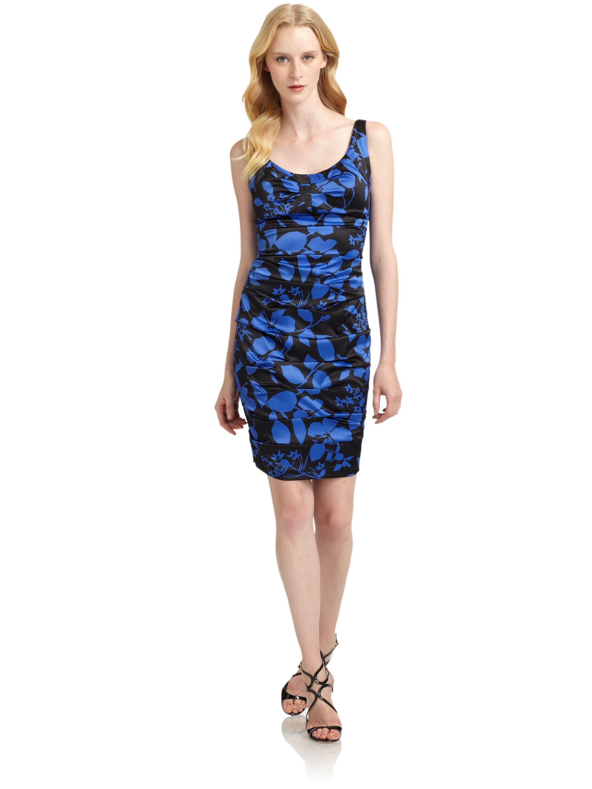 http://www.lyst.com/clothing/jax-satin-printed-cocktail-dress ...