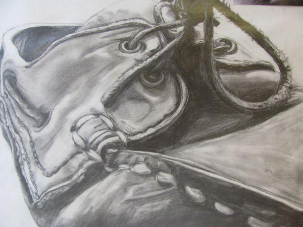 Contour Line Drawing Of A Shoe : Art gallery schools sussex ardingly school gcse