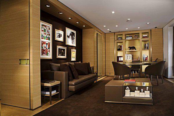 esprit bureau masculin avec lambris et canap s de cuir. Black Bedroom Furniture Sets. Home Design Ideas