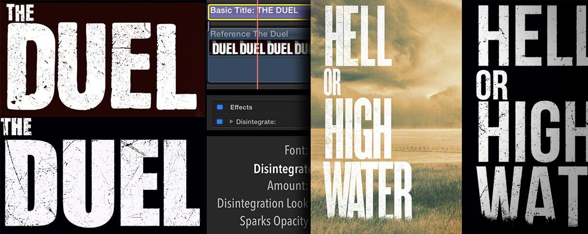 Mimicking current film posters using Title Punch in FCPX from