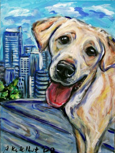 angie ketelhut seattle wa Dog canvas art, Dog canvas