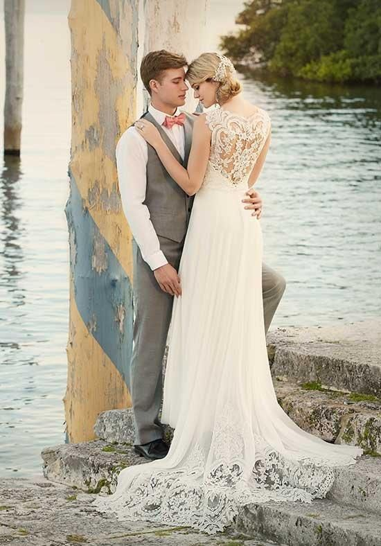 Essence of Australia gown with sheath silhouette, sweetheart ...