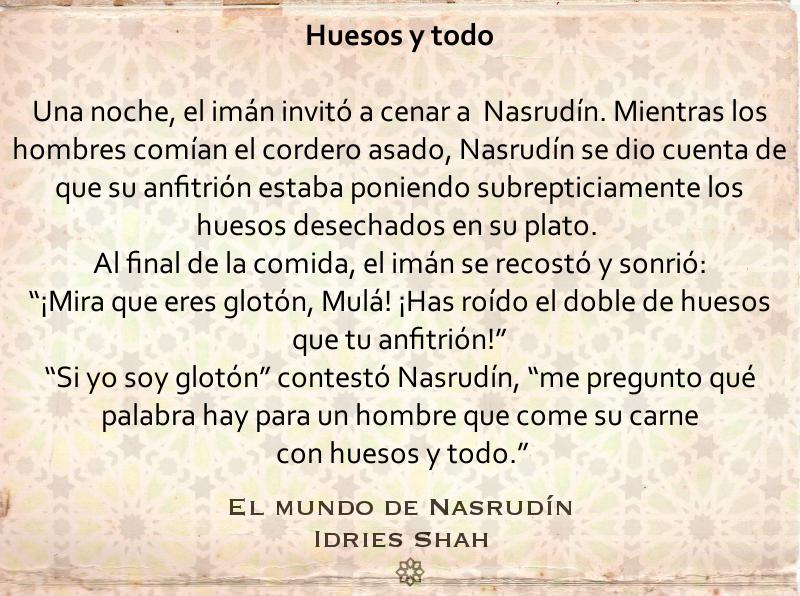 Una Comida Con Nasrudin Filosofia Practica Cordero Asado Libros
