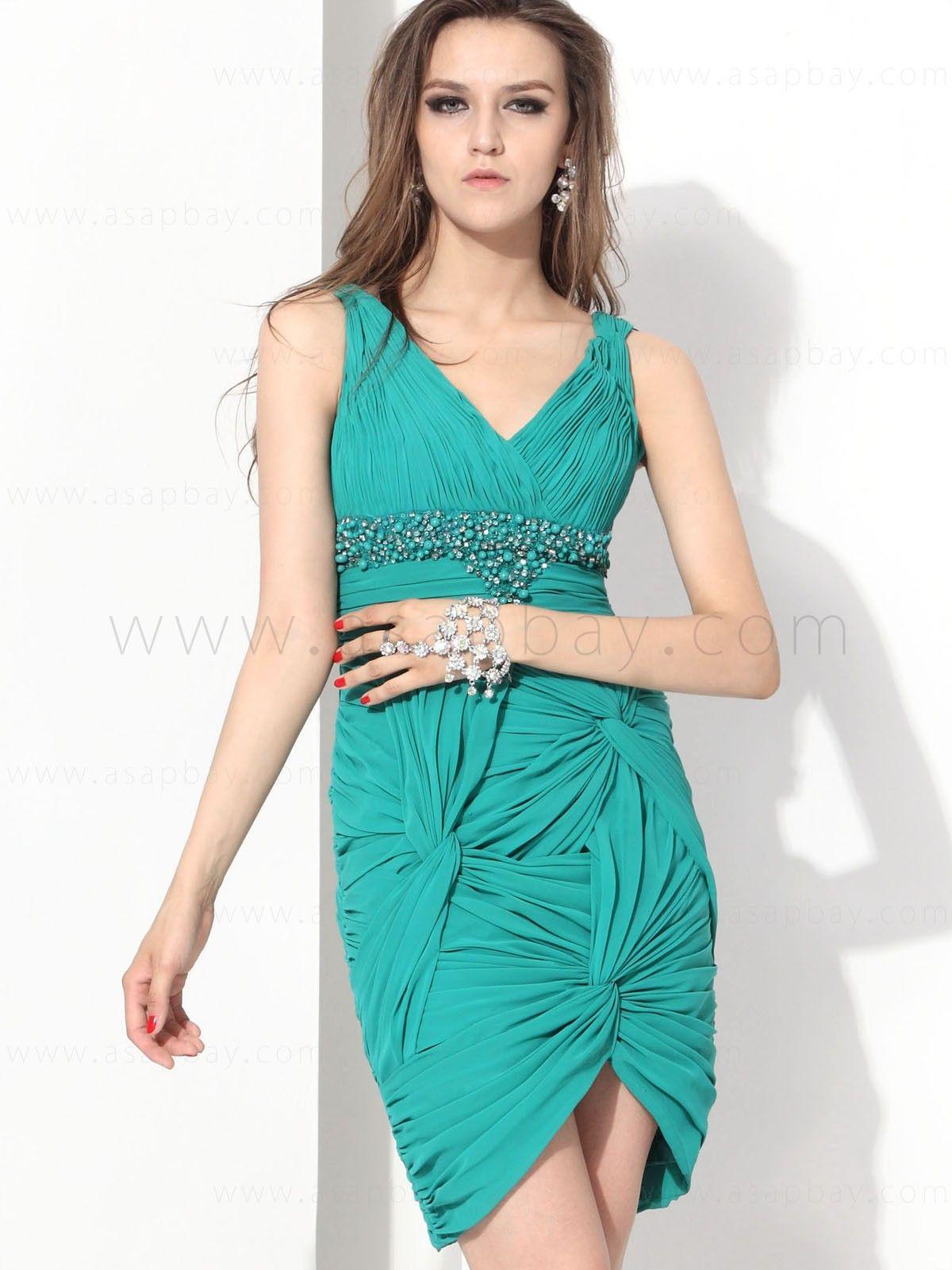 V Neck Short Cocktail Dress E12040$144.99 #asapbay | Short ...