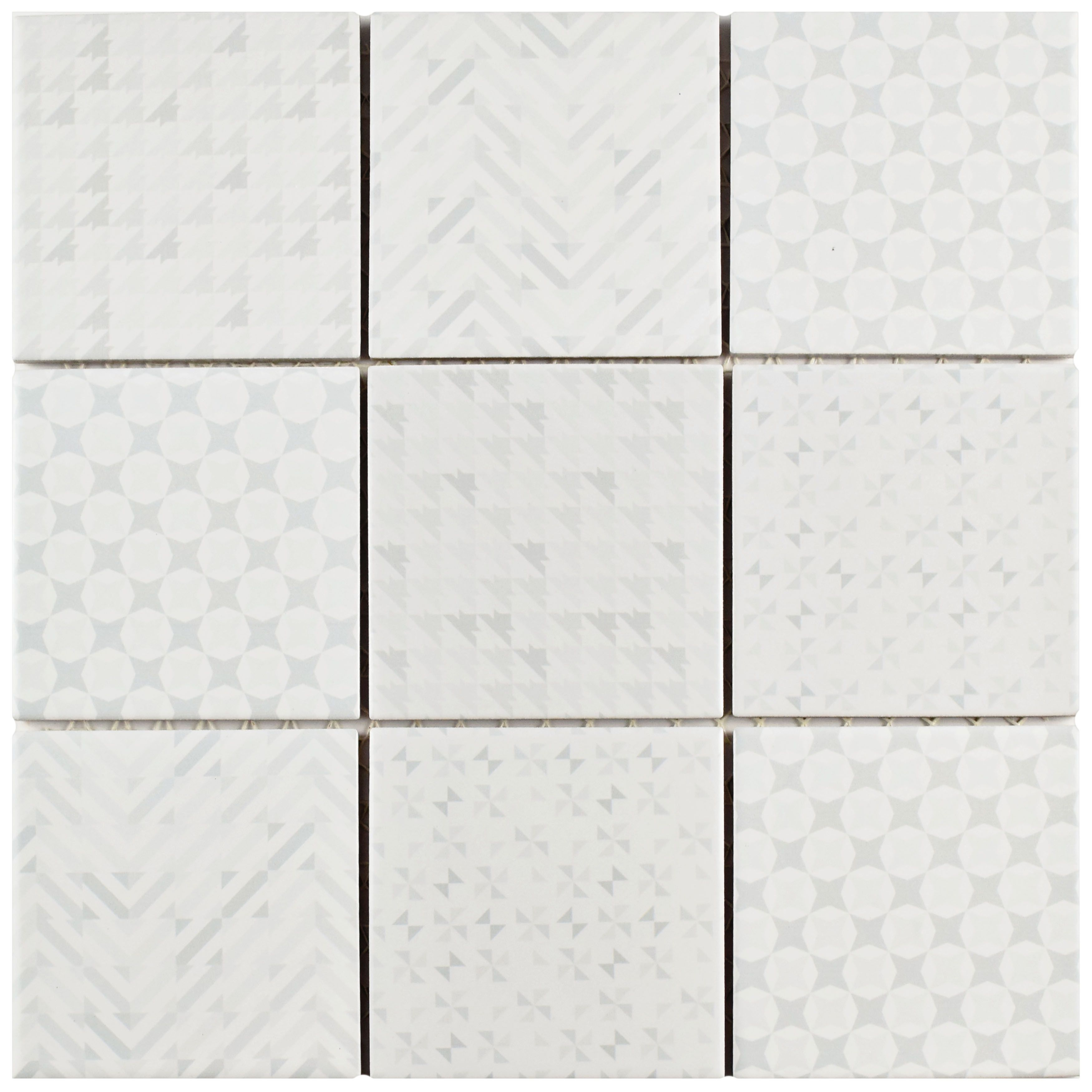 The Somertile Geoshine White Porcelain Floor And Wall Tile Captures